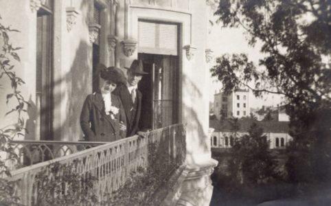 Великий Князь Михаил Александрович и графиня Н.С. Брасова. Париж 1913 г.