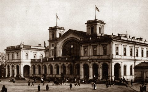 Балтийский вокзал в Петрограде. Фото 1913-1914 гг.