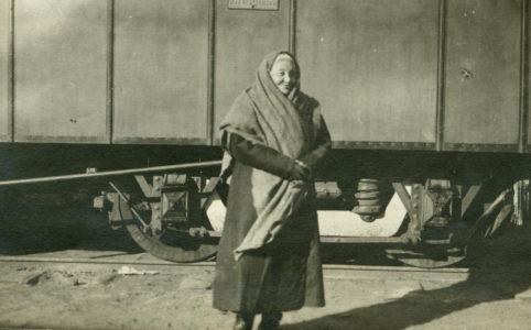 Е. К. Брешко-Брешковская во время своей поездке по России, 1917 г.