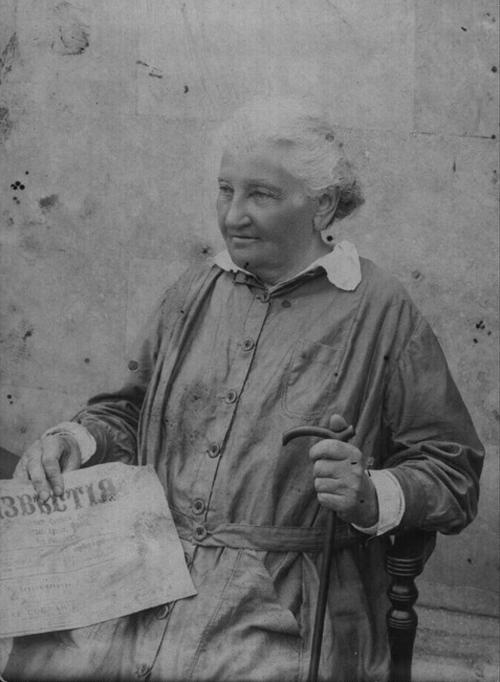 Е.К. Брешко-Брешковская. Лето 1917 г. Фото сделано в г. Севастополь