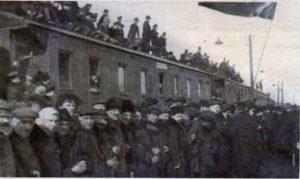 Встреча Бабушки русской революции в Москве на Казанском вокзале. 3 апреля (21 марта) 1917 г.