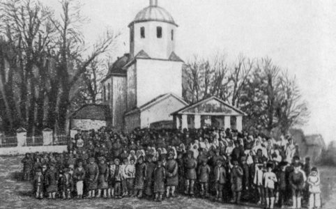 Крестьянский митинг в селе Доброводье Севского уезда. Апрель 1917 г.