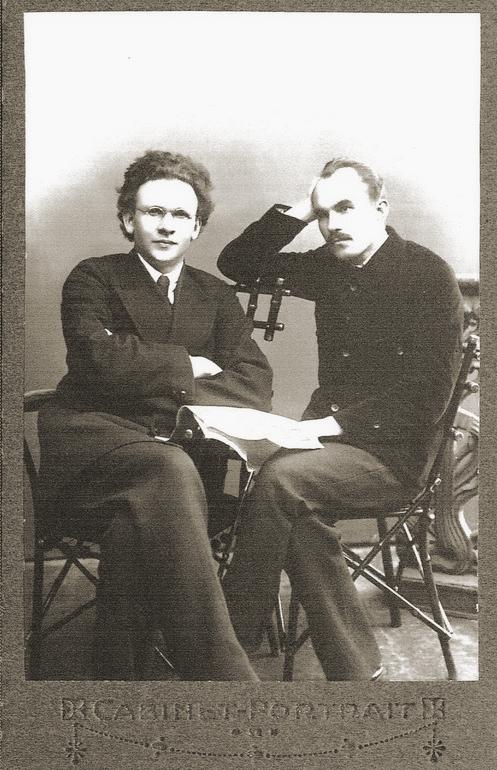 Игнат Фокин и Григорий Панков. Фото предположительно 1918 г.