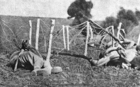 Солдаты режут проволочные заграждения. Июнь 1917 г.