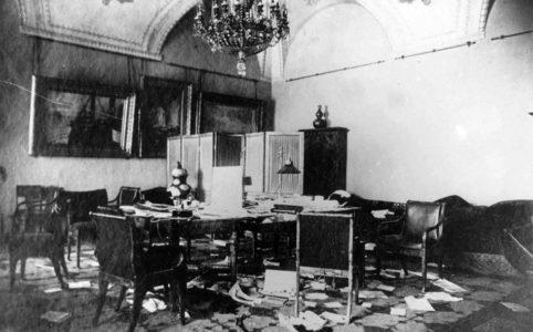 Кабинет А. Ф. Керенского после штурма Зимнего. Ноябрь 1917 г.