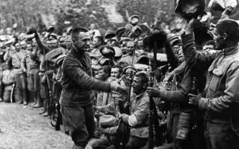 Керенский на фронте. 1917 г.
