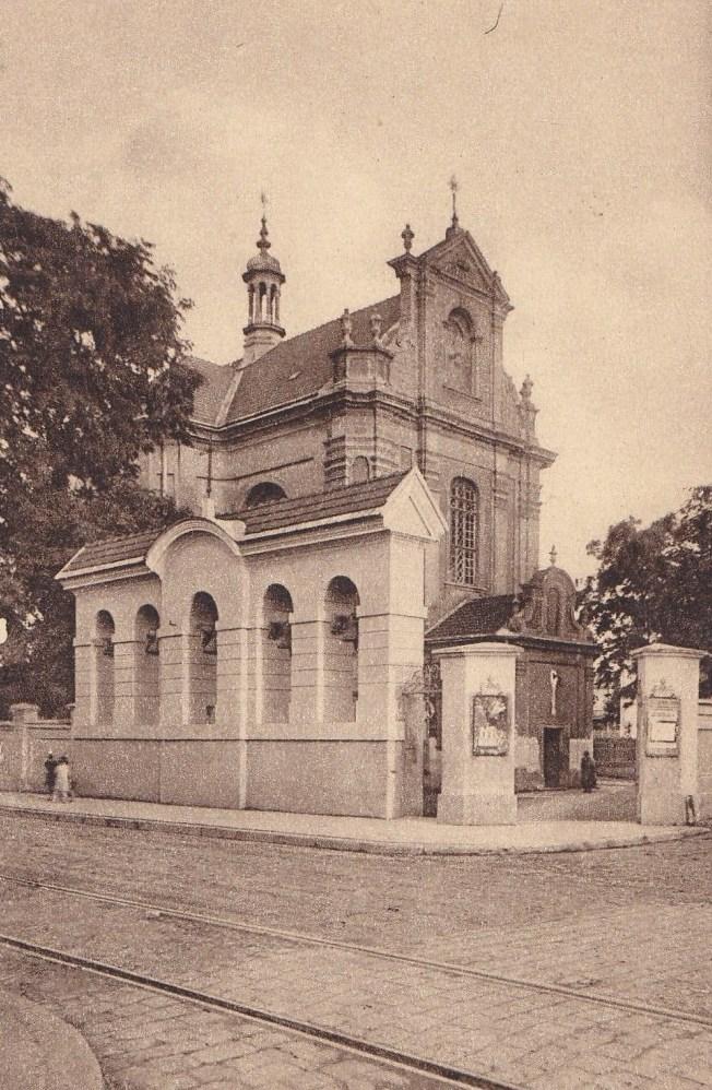 Костёл в Коломые. Фото с открытки конца XIX - начала XX в.