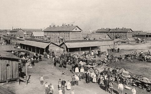 Новый базар в Бежице. Фото К. Фишера. 1895 г. Из коллекции группы ВК «Брянск глазами разных поколений»