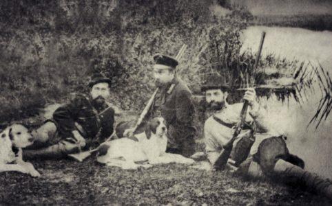 На охоте. Фото нач. XX в. Из архива семьи Тимофеевых