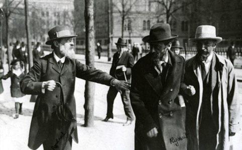 Павел Аксельрод, Юлий Мартов и Александр Мартынов в Стокгольме.  16 (3) мая 1917 г.
