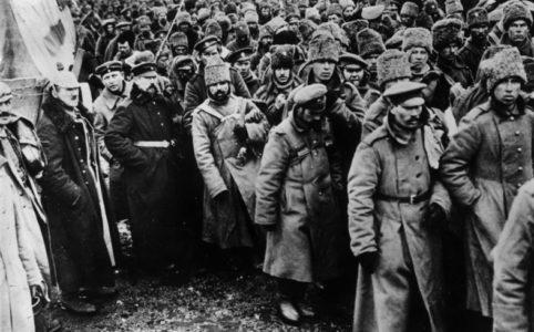 Немецкие военнопленные.  Фото 1917 г.