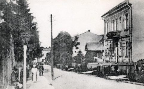 Подгайцы. Улица Железнодорожная (Ulica Kolejowa). Фото нач. XX в.