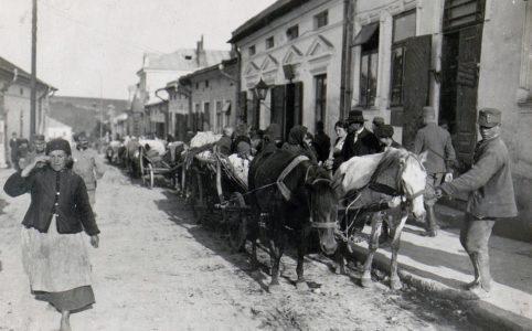 Улица в Подгайцах. Фото 1915 г. Из коллекции Австрийской национальной библиотеки.
