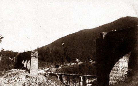 Мост через реку Прут. 1917 г.