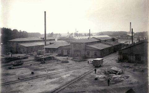 Радицкий вагонный завод. Фото 1910 г. Источник: группа ВК «Брянск глазами разных поколений»