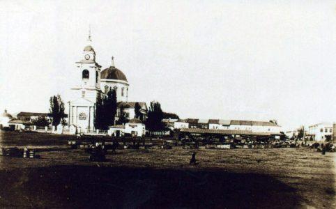 Красная Площадь и торг в Севске. Фото нач. XX в.