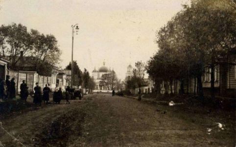 г. Стародуб. Вознесенская улица. 1900-1910е гг. Фото предоставлено Дмитрием Гречихиным.