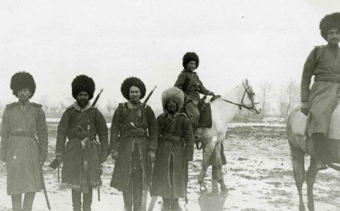 Кавалеристы Текинского конного полка. 1914-1917 гг.