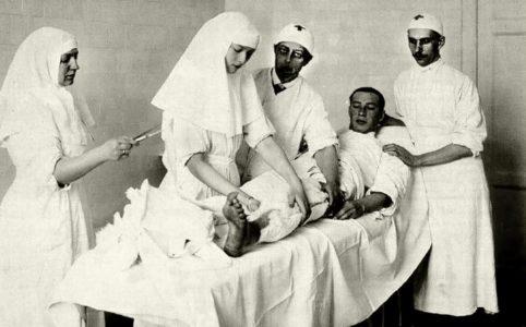 Госпиталь в Царском селе. Фото 1915 г.