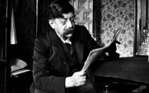 Виктор Адлер читает газету. Фото 1900-1910х гг.