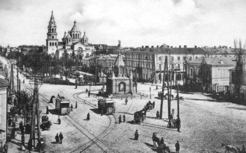Соборная площадь в Житомире. Фото середины 1900-х гг.