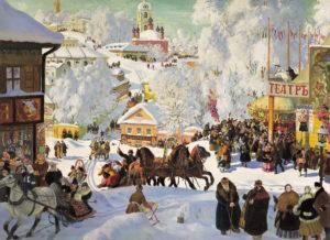 """Борис Кустодиев. """"Масленица"""". 1917 г"""
