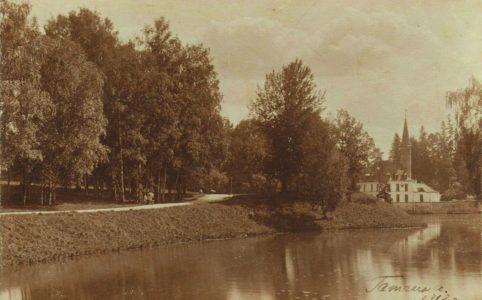Вид на Приоратский дворец в Гатчине. Фото 1912 г.