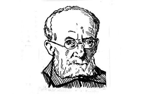 Л. А. Борович. Рис. 1927 г. из газеты «Брянский рабочий».