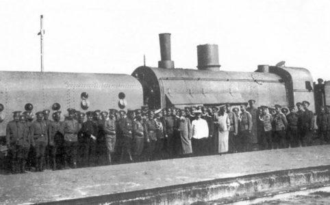 Типовой бронепоезд 2-й Заамурской железнодорожной бригады. Киев 1915 г.