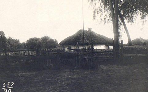 Хата в Черниговской губернии. Фото Н. М. Могилянского. Нач. XX в.