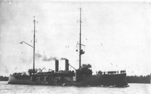 Канонерская лодка «Хивинец» после модернизации. 1916-1917 гг.