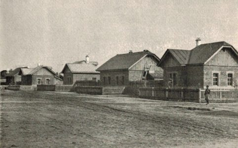 Квартал из колонии рабочих в Бежице, 1911 г. Источник: группа ВК «Брянск глазами разных поколений»