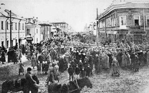 Успенская улица в Луге. 1914-1917 гг.