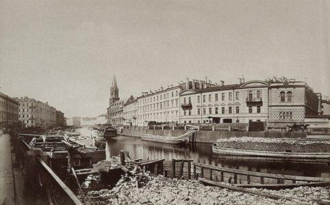 Вид набережной Мойки. Фото К. Шульца. 1874-1878 гг.