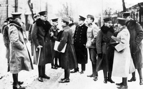 Немецкая делегация на переговорах в Брест-Литовске.