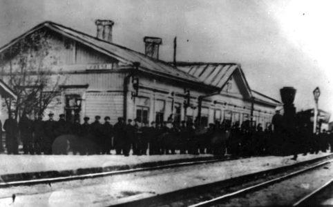 Железнодорожная станция Унеча. Фото конца XIX-нач. XX в.
