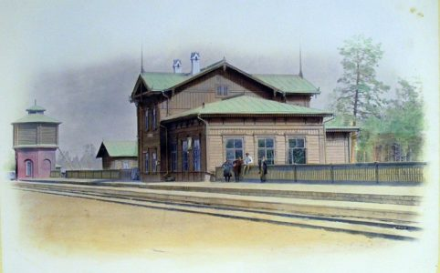 Станция Жуковка IV класса. Альбом Орловско-Витебской железной дороги. Конец XIX в.